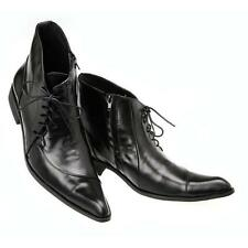 US Size 5-12 Black Leather Lace Up Pointed Toe Ankle Boots Mens Fashion Shoes @