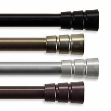 """Curtain Rod 3/4"""" OD #30 choose from 4 colors & 4 sizes 28""""-170"""""""