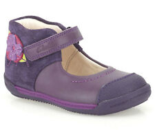 Girls purple CLARKS SOFTLY ROSE First Shoes size 4 G