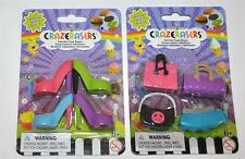 FASHION ANGELS CRAZERASERS ~ 6 PC. ~ PURSES & SHOES Series 2 COLLECTIBLE NEW