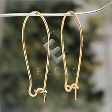 20g 67pcs Iron Kidney Ear Wires Earring Findings 35mm Gold/Nickel Plated