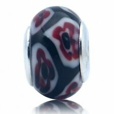 Multi Colored Murano Glass 925 Sterling Silver European Charms Bead