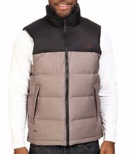 Men's North Face Coffee Bean Brown Nuptse 700 Down Vest Jacket New $149