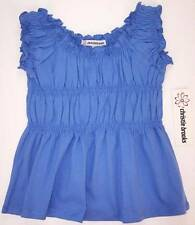 NWT Christie Brooks Blue Smocked Knit Top, S (7-8), M (10-12), L (14) or XL (16)