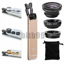 3 in1 Fish Eye+Wide Angle+Macro Camera Clip-on Lens for iPhone 6S/Plus 5/5S FCV