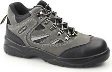Grafters Mens Ladies S1 SRC Suede/Mesh Steel Toe Hiking Safety Boots Grey/Black