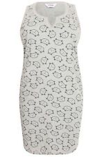 Yoursclothing Plus Size Womens Sleeping Cat Print Nightdress