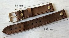 20mm LEATHER WW PILOT'S AVIATOR MILITARY WATCHES retro STYLE BAND DH UROFA etc