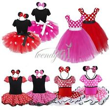 Kids Girls Baby Toddler Polka Dot Halloween Outfits Cosplay Dress Up Costume