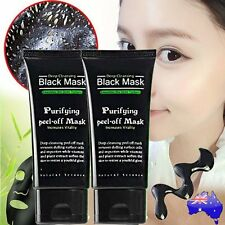Facial Black Mud Mask Care Deep Cleansing Removal Blackhead Nose Face Mask M#