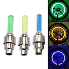LED neon Car Bike Wheel Tire Tyre Valve Dust Cap Spoke Flash Lights new