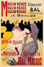 Moulin Rouge La Goulue Toulouse Lautrec Poster New Reproduction Art Print 320