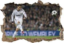 Cristiano Ronaldo Real Madrid Smashed Wall Decal Wall Sticker Art Mural H872