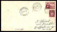 Norway Oslo D/S Turisten 1948 Paquebot Ship cover to US