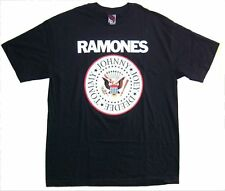 The Ramones Classic Red Seal Circle Logo Black T Shirt New Official