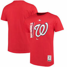 Washington Nationals Majestic MLB Mens Authentic Team Icon  T-Shirt - Red