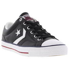 Converse Star Player Leather Mens Black Leather Trainers Shoes Size UK 7-13
