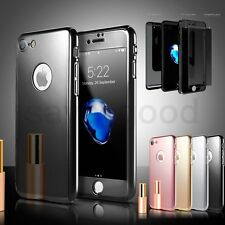 Ultra Thin Shockproof Mirror Front Back Temper Glass Case For iPhone 7 6 6S Plus