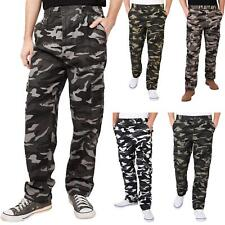 Mens Combat Military Army Camouflage Cargo Trousers Pants Casual Work Fashion