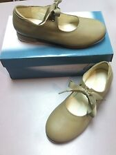 Tan Tap Shoes Women's Leos 826 Ribbon Tie, NIB