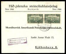 Icleand 1938 Independence Issue Scott 209 Pair First Day Cover Unsealed