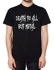 Death To All But Metal T Shirt Tee Men Women Kids Goth Emo Rock Festival Gig UK