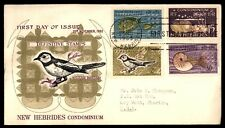 New Hebrides 1963 Bird Cacheted First Day Cover to US FDC