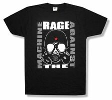 Rage Against The Machine Gas Mask Image Black T Shirt New Official RATM Soft