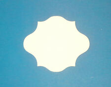 Label/Plaque Shaped Die Cuts#5 In Smooth White Card-5 Size Options
