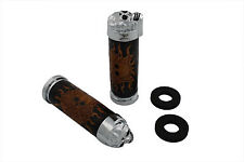 Skull Design Handlebar Grip Set,for Harley Davidson motorcycles,by V-Twin