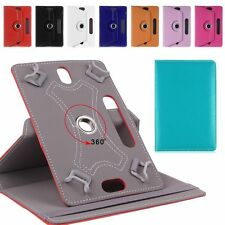 """Folio 360° Leather Case Cover For Universal Android Tablet PC 7"""" 8"""" 9"""" 10"""" 10.1"""""""