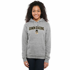 Wake Forest Demon Deacons Women's Proud Mascot Pullover Hoodie - Ash - - NCAA