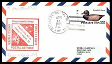 DALLAS FT WORTH TX APR 11 1985 FFC AA RED CACHET ON COVER TO FAYETTEVILLE NC