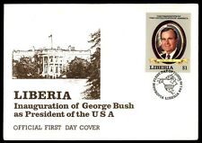 Liberia Pres. George Bush first-day cover 1989 January 20