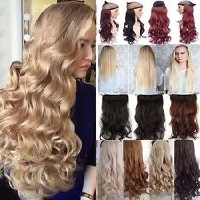 UK GRADE THICK One Piece Clip In Hair Extensions Real Human Half Full Head Hair