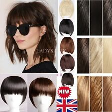 UK Lady Clip On In Front Hair Bang Fringe Hair Extension Human Wedding Hair lfc