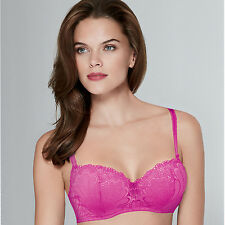 Wonderbra Refined Glamour Push Up Balconette Bra Pink Lace 32 to 38 A to G