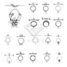 20-150pcs Lots Tibetan Silver Bar Ring Toggle Clasps Hooks Jewellery Finding