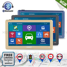 "7""HD Touch Screen Portable 8GB LORRY Car GPS Navigation Bluetooth Sunshade AV-IN"