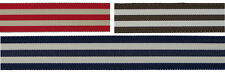 "7/8"" (22mm) Dual Color Stripe Grosgrain Ribbon 1084 (2 yds)"