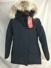 NEW Canada Goose VICTORIA PARKA NAVY WOMENS JACKET DOWN AUTHENTIC HOLOGRAM