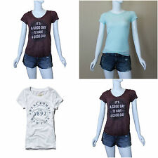 ABERCROMBIE & FITCH WOMEN'S LOGO GRAPHIC TEE SHIRT NEW SIZES XS, S , M , L