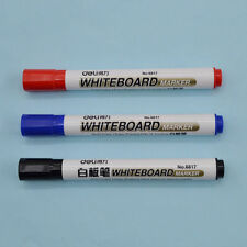 2 Pcs Whiteboard Pen Marker White Board Pen Black Blue Red Dry Erase Marker New