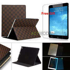 Slim Flip PU Leather Stand Case Cover & Nano Screen Protector for iPad Mini Air