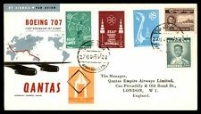 Thailand Boeing 707 Bangkok to England Qantas 1959 First Flight Cover