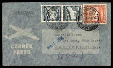 VALPARAISO FEB 24 1948 REGISTERED AIR MAIL COVER TO NEW YORK USA
