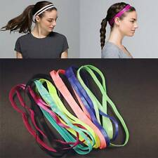 Women Sports Elastic Double Headband Sweatband Softball Yoga Hair Band Anti-Slip
