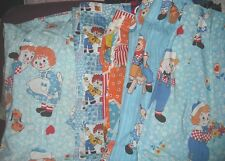 VINTAGE Raggedy Ann and Andy Curtains - Your Choice - Pleaded and Cafe Style