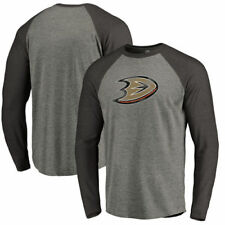 Anaheim Ducks Distressed Team Tri-Blend Raglan Long Sleeve T-Shirt - NHL