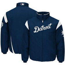 Detroit Tigers Majestic On-Field Therma Base Thermal Full-Zip Jacket - MLB